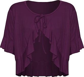 Top Fashion18 Top Fashion Ladies Plus Size Tie Shrug Tops Bolero Cropped Stretch Cardigan Top UK Size 14-28