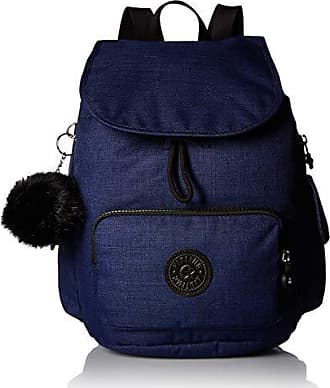 Kipling City Pack Small Solid Backpack, Indigo Blue, Cotton