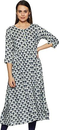 Indigo Womens Cotton a-line Kurta (AW19/IND-1277 X-Large)