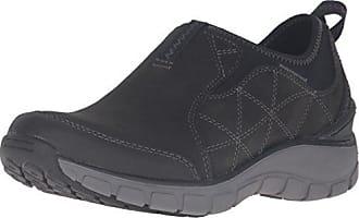 Clarks Womens Wave Slide Fashion Sneaker, Black Nubuck, 5.5 M US