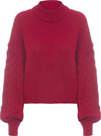 Dress To Blusa Pull Manga Bufante - Vermelho