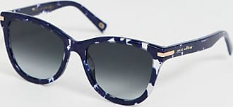 Marc Jacobs square sunglasses in navy tortoishell acetate