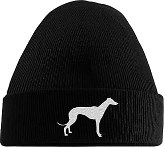 HippoWarehouse Greyhound Logo Embroidered Beanie Hat Black