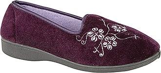 Zedzzz JENNY Ladies Full Slippers Purple UK 8