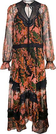 Coach long embellished dress - Orange