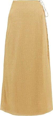 Oséree Lumière Lamé Wrap Skirt - Womens - Gold
