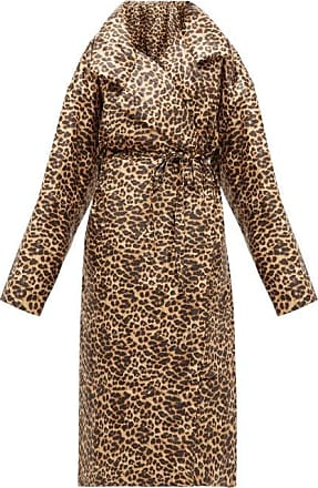 Norma Kamali Sleeping Bag Leopard-print Coat - Womens - Leopard