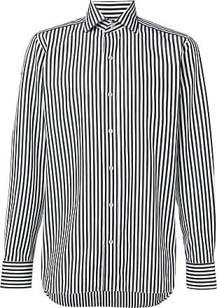 Tom Ford Camisa slim listrada - Branco