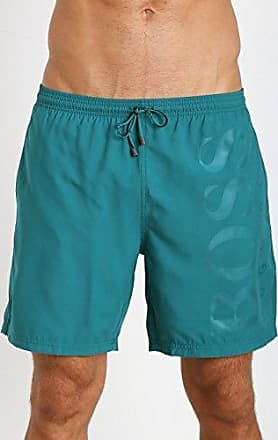 d92136787 HUGO BOSS Mens Orca Solid Swim Trunk, Turquoise, Small
