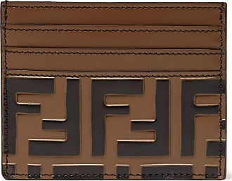 09286bb3a0db Fendi Logo-embossed Leather Cardholder - Brown