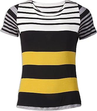 Camille Womens Ex Marks & Spencer Various Striped Short Sleeve T-Shirt 14 Black