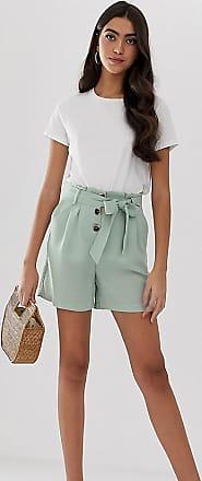 Y.A.S. Tall tie waist linen shorts-Green