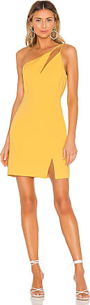 Bcbgmaxazria One Shoulder Cut Out Dress in Yellow