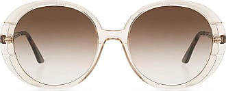 Emmanuelle Khanh Sunglasses With Logo Womens Brown