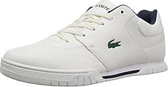 d32c738c74600 Lacoste Mens Indiana EVO 417 1 Sneaker Off White Navy 13 M US