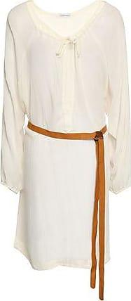 Eberjey Eberjey Woman Belted Cotton-gauze Coverup Ivory Size S/M