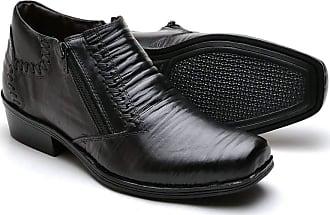 Di Lopes Shoes Bota em Couro Cano Baixo (43, Preto)