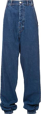 NEITH NYER Calça jeans cintura alta - Azul