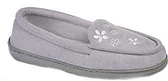 Zedzzz Kaitlyn Ladies Full Slippers Grey UK 5