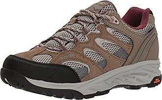 Hi-Tec Womens V-LITE Wild-FIRE Low I Waterproof Hiking Shoe, Taupe/Warm Grey/Grape Wine, 100M Medium US