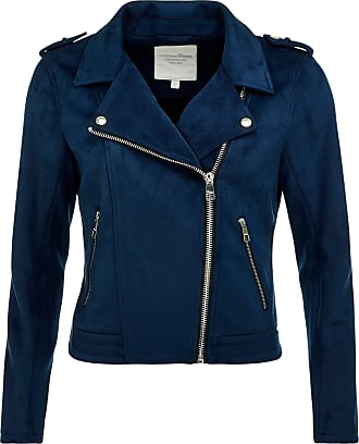 Tom Tailor Denim Womens Fake Wildleder Biker Faux Leather Jacket, 10668-Sky Captain Blue, X-Large