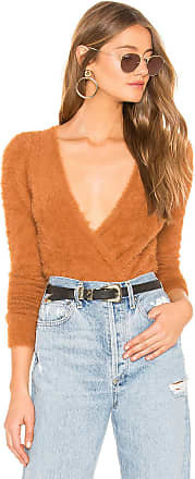 Majorelle London Coco Wrap Sweater in Brown