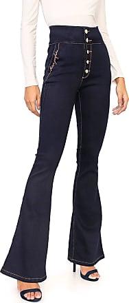 Lança Perfume Calça Jeans Lança Perfume Flare Shape Now Azul