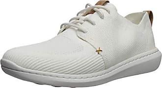 Clarks Mens CloudSteppers Step Urban Mix Shoe, White Textile Knit, 8 M US