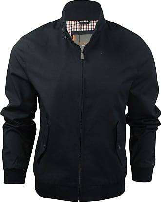 Ben Sherman Mens Mens The Script Harrington Jacket in Navy - L