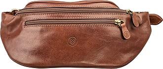 Maxwell Scott Maxwell Scott - Luxury Leather Tan Fanny Pack (Centolla)