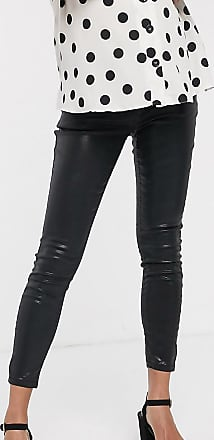 Asos Maternity ASOS DESIGN Maternity Ridley high waist skinny jeans in black coated