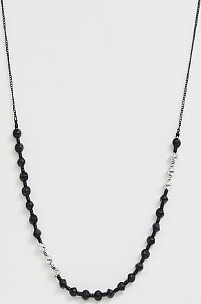 Icon Brand Collana nera con perline-Nero