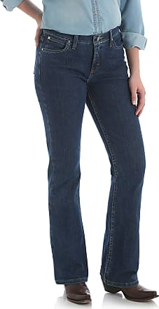 Wrangler Womens As Real as Classic-Fit Bootcut Jean - Blue - 14W x 32L