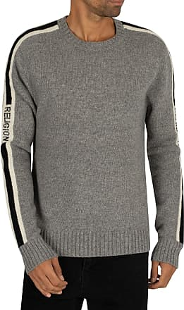 Religion Tone Knit in Grey and Black S