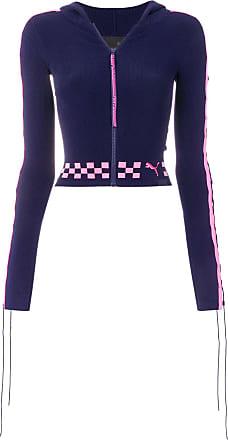 5abbb0a657a5d Fenty Puma by Rihanna cardigan zippé crop à détails de laçage - Bleu