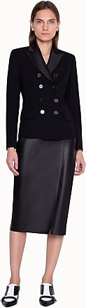 Akris Pencil Skirt in Lamb Leather with Buckle