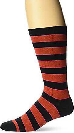 Ozone Mens Neon Stripe Socks, Black, 10-13