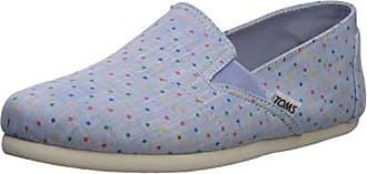c1ef9b5bcb1 Toms Womens Redondo Loafer Flat Light Bliss Blue Speckled Chambray Polka  dots 5 B Medium US