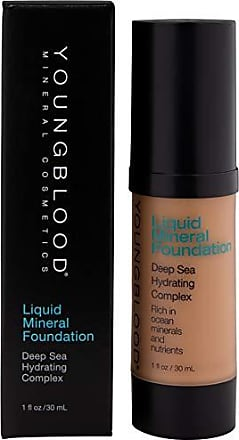 Youngblood Mineral Cosmetics Liquid Mineral Foundation, Suntan, 1 Ounce