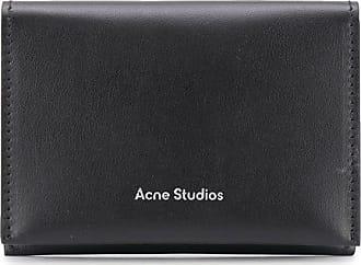 Acne Studios logo-print bifold cardholder - Black
