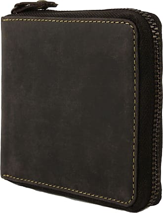 Visconti Mens Quality Leather Zip Around Wallet Hunter Collection Oiled Brown Gift Boxed