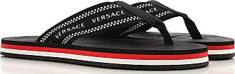 Versace Flip Flops for Men On Sale, Black, polyester, 2017, 7.5