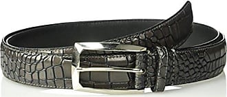 Stacy Adams Stacy Adams Mens Big and Tall Ozzie Big & Tall Croc Embossed Belt, Gray, 50