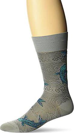 Ozone Mens Drifting Koi Sock, Grey, 10-13