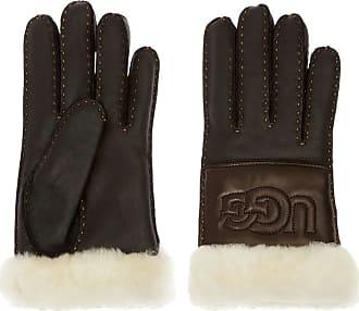 UGG Schwarze UGG Handschuhe Sheepskin Logo Glove