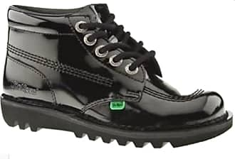 Kickers Womens Latest Kick Hi, Patent Leather Upper, Casual Fashion/Back to School Lace Up Ankle Shoes