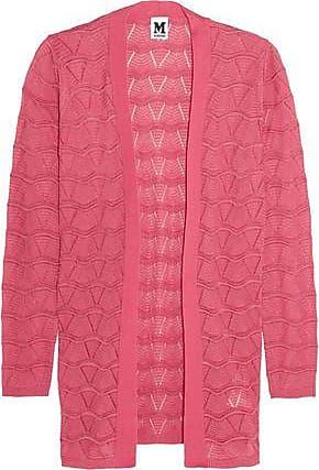 4d93346a79f7 M Missoni M Missoni Woman Crocheted Cotton-blend Cardigan Bubblegum Size 46