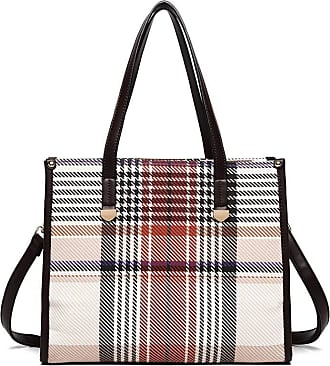 Quirk TARTAN LOOK SHOULDER BAG - BROWN