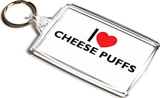 ILoveGifts KEYRING - I Love Cheese Puffs - Novelty Food & Drink Gift