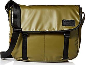 Diesel Mens Discover Messenger Bag, olive drab, One Size